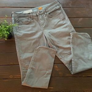 Anthropologie Pilcro Green skinny jeans Size 6 28